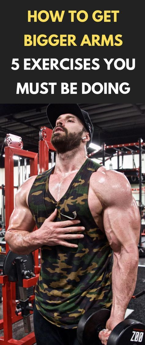 How To Get Bigger Arms – 5 Exercises You Must Be Doing #fitness #bodybuilding ... - #Arms #Bigger #b...