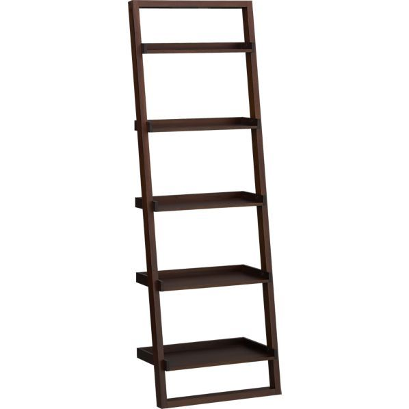 sloane java 25 5 leaning bookcase in bookcases towers crate and rh pinterest com