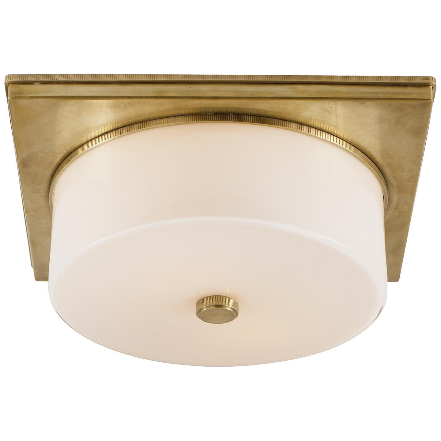Thomas O'Brien Newhouse Block 12 Inch 2 Light Flush Mount by Visual Comfort and Co. Newhouse Block Flush Mount by Visual Comfort and Co. - TOB 4216HAB-WG