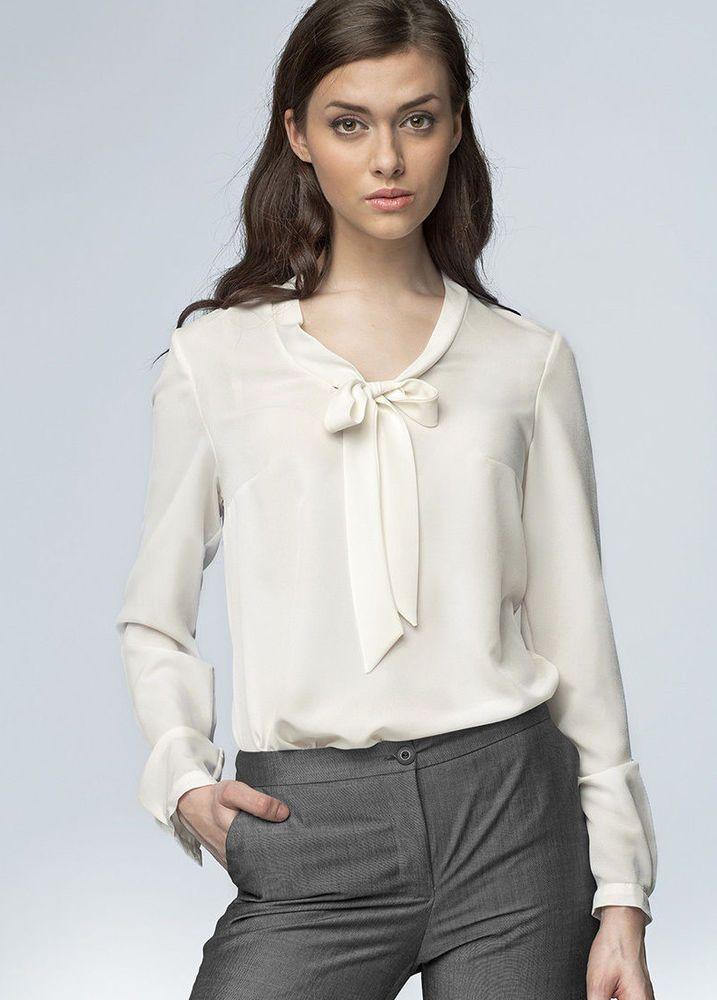 chemisier cru blouse haut femme fluide col cravate nife b56 36 38 40 42 44 chemisier. Black Bedroom Furniture Sets. Home Design Ideas