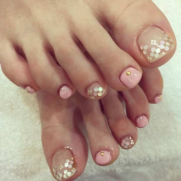 31 Easy Pedicure Designs For Spring With Images Pedicure