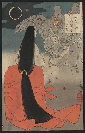 How to Be Beautiful in Heian Era Japan: Print by Yoshitoshi Taiso, c. 1880.