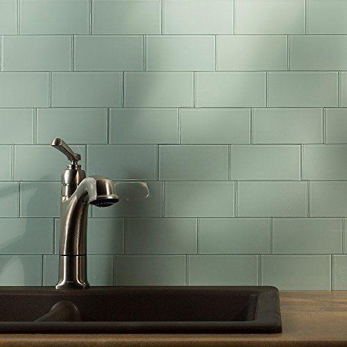 Aspect L And Stick Backsplash 3in X 6in Morning Dew Gl Tile For Kitchen