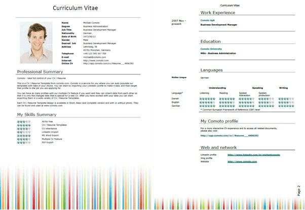 Free Microsoft Word Resume Templates For Download  Stuff To Buy