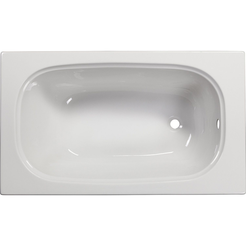 Sanoacryl Badewanne Linea 120 Cm X 70 Cm Weiss Kaufen Bei Obi Badewanne Wanne Kleine Badewanne