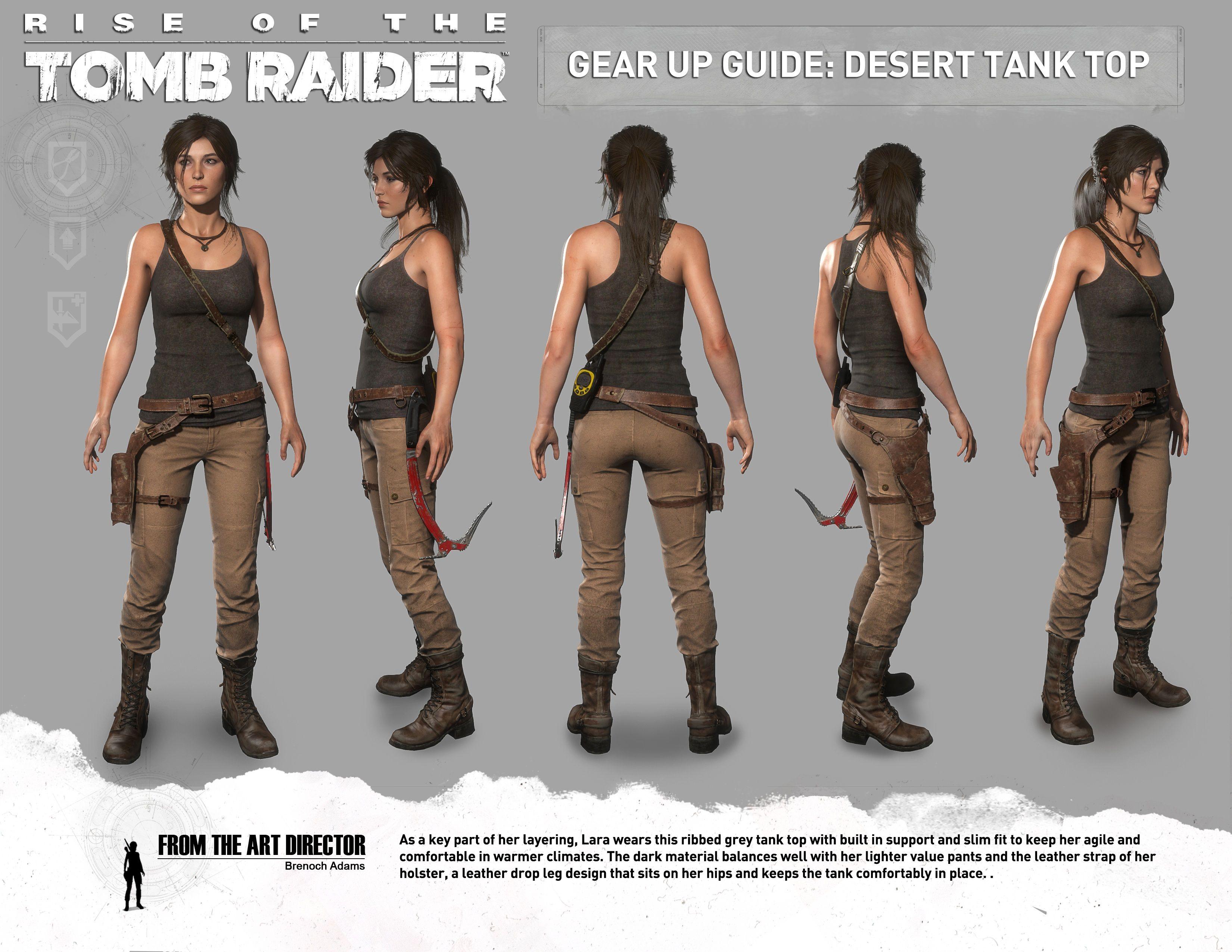 Riseofthetombraiderdeserttanktop Jpg 3300 2550 Tomb Raider Lara Croft Costume Tomb Raider Outfits