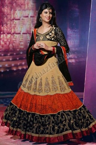 Black and Brown Brasso Georgette Net Churidar Suit, Design No. DMV12683, Price- $148.22, Dress Type:Anarkali Churidar Suit, Fabric:Brasso Georgette Net , Colour:Black and Brown , Embellishments:Designed with  Embroidered, Patch, Resham, Stone, Zari work, For More Details Visit Here @ http://www.andaazfashion.us/black-and-brown-brasso-georgette-net-churidar-suit-dmv12683.html