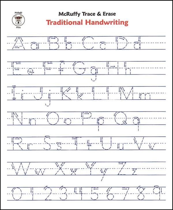 Free Writing Printable Kindergarten Worksheets : Free printable alphabet writing worksheets for
