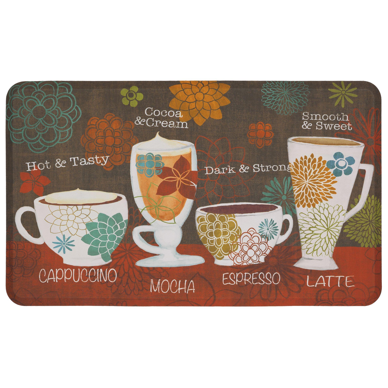 Mohawk home tasty coffee words dri pro comfort mat u x u