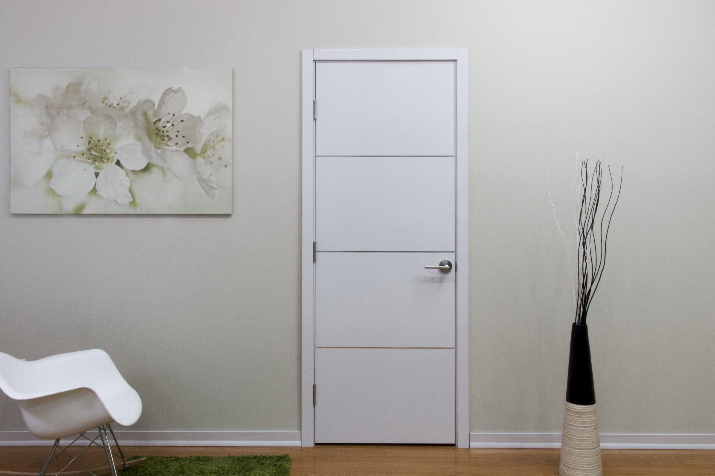 Hg008 White Gloss Laminate Interior Door Contemporary