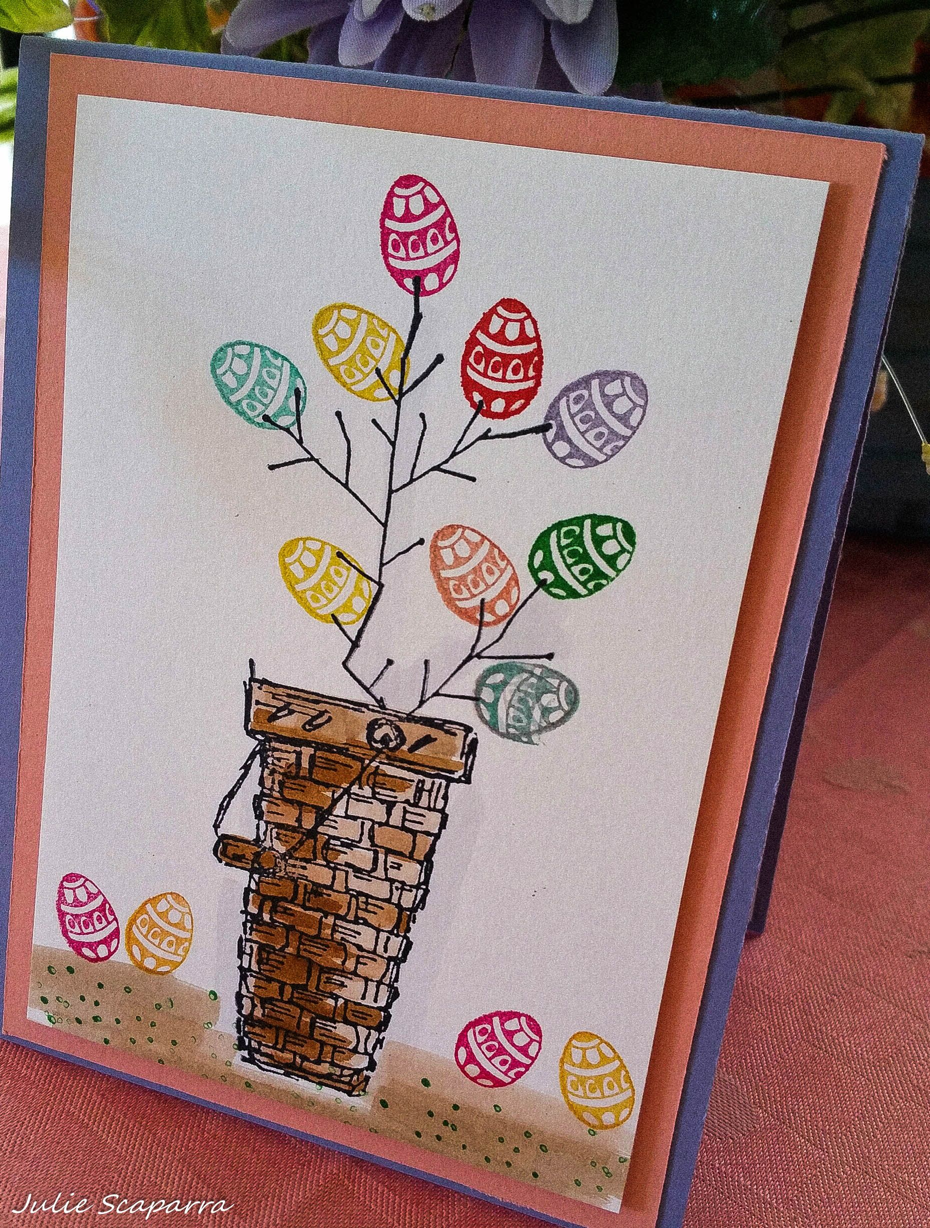 Stamp By Judith Easter Tree Stamped Cards Spring Cards Cards