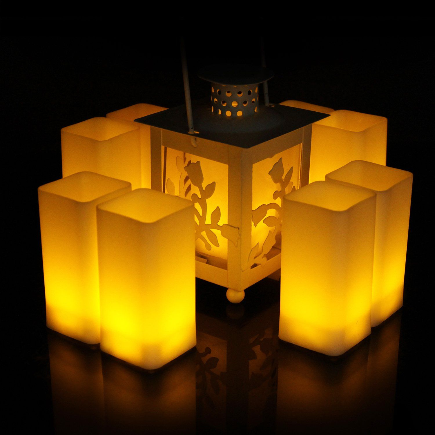 Halloween Style Suggestions Square Flameless LED Candles Battery