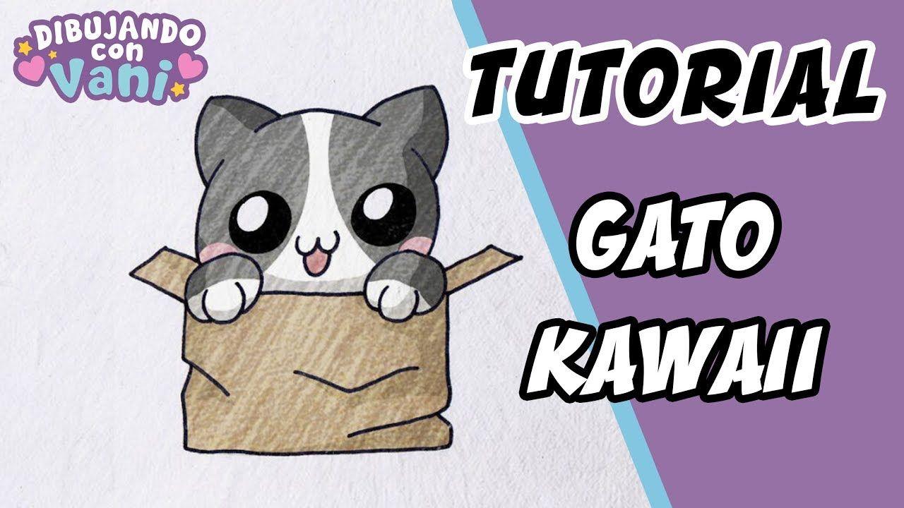 Como Dibujar Un Gato Kawaii Dibujos Faciles Paso A Paso Draw A Kawai Como Dibujar Un Gato Dibujos Kawaii Gatos Kawaii