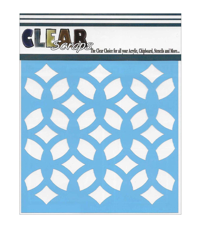 Clear Scraps 12''x12'' Stencils-Funky Pattern