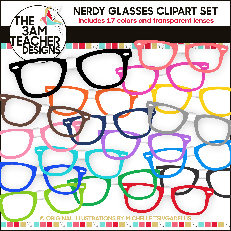 Nerdy Glasses Clip Art Set Clip Art Nerdy Glasses Art Set