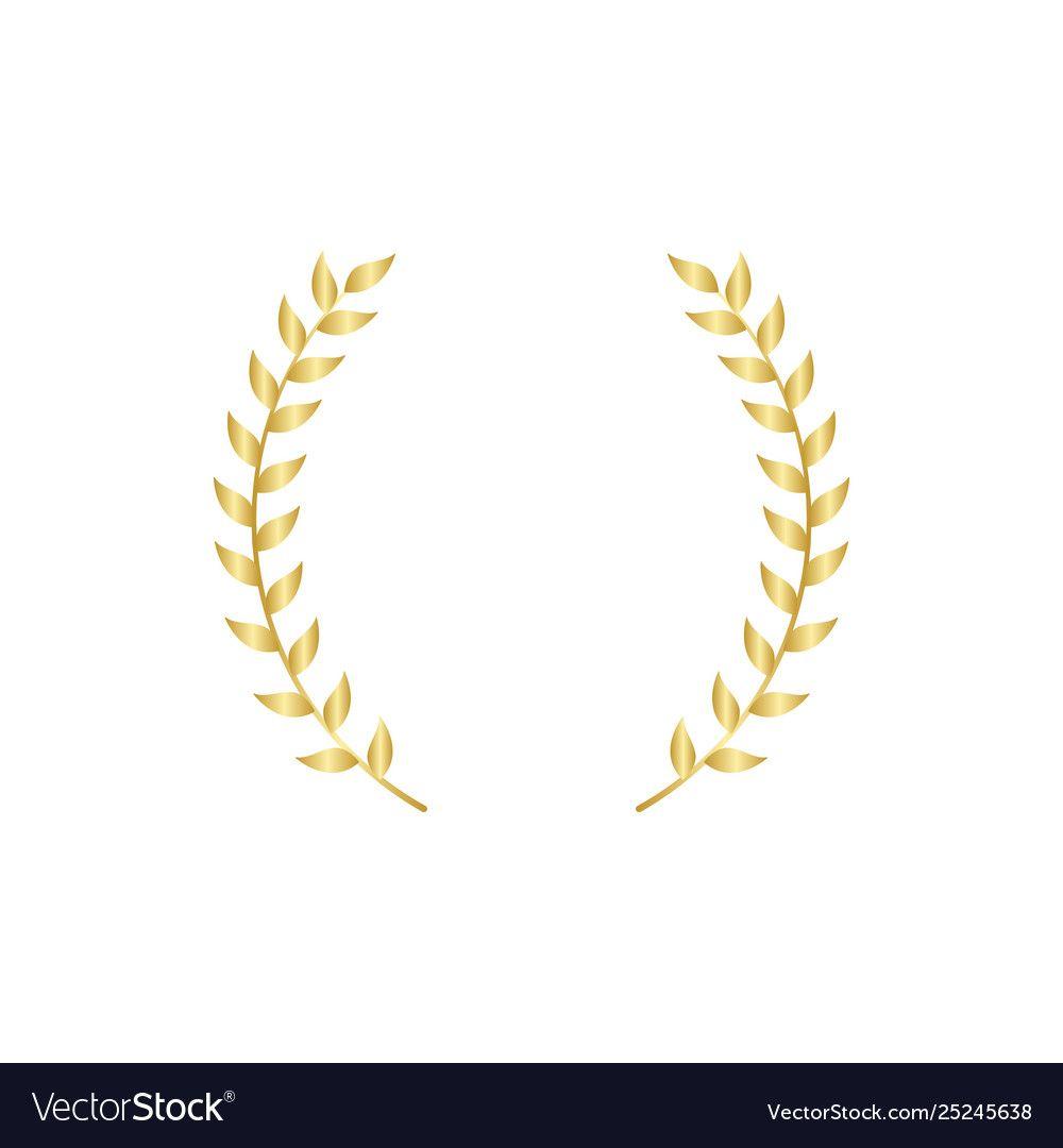 Gold Laurel Or Olive Branch Element Greek Vector Image Aff Olive Branch Gold Laurel Ad Gold Olive Branch Vector Images Vector Free