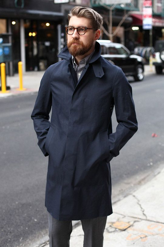 Untitled Blue Trench Coat Mens 8de697f80a7c