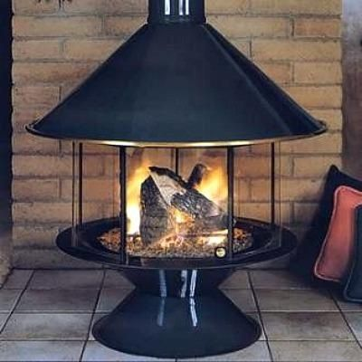 Circular Gas Fireplace It The Modern Design Interior