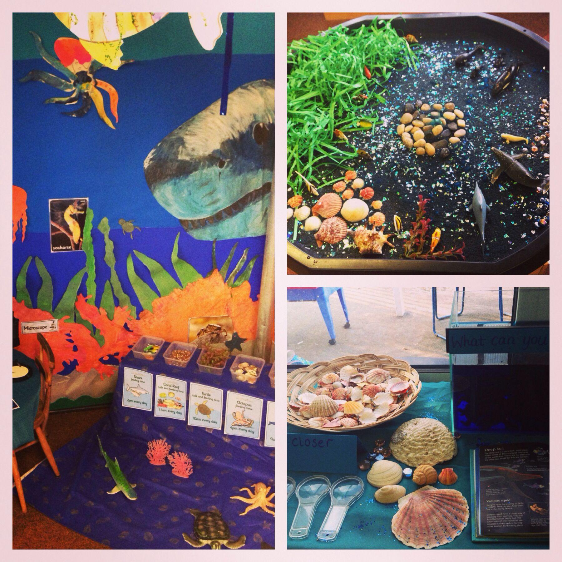 Aquarium role play Under the sea Pinterest
