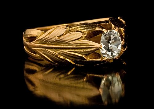 Antique Gold Diamond Mens Rings Sale Vintage Russian Imperial