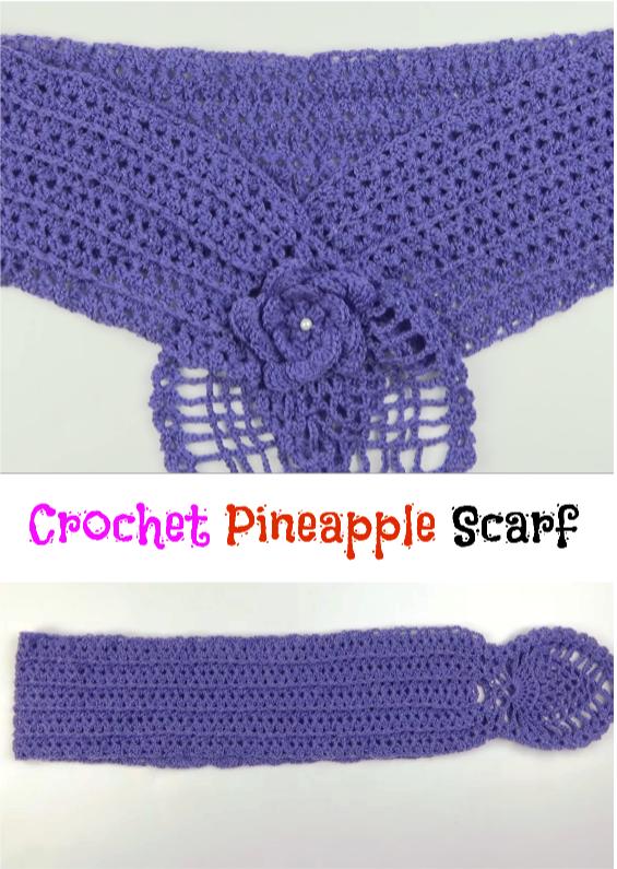 Pineapple Scarf | CROCHET | Pinterest | Capilla, Tejido y Bordado