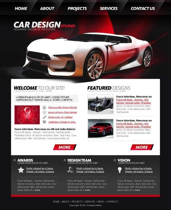 Free PSD Web Design Templates For Download | Web Designs | Pinterest