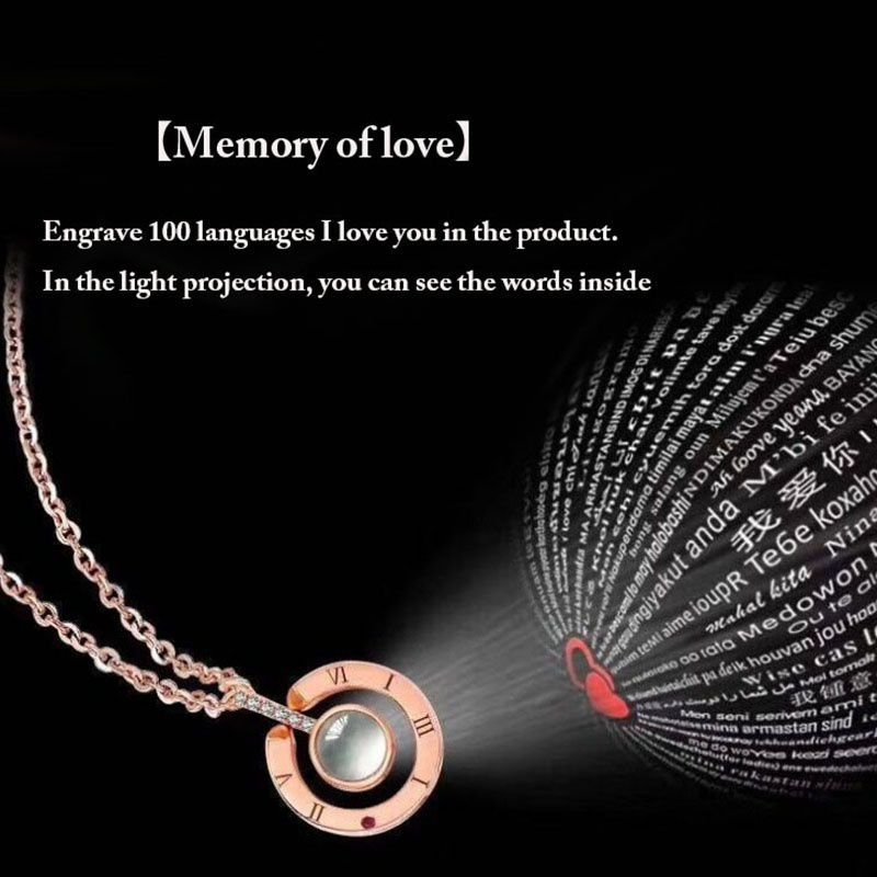 100 Language I Love You Projection Pendant Necklace Buy Necklace Love Necklace Great Gifts For Women
