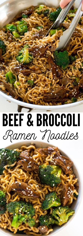 Beef and Broccoli Ramen #ramen #dinner #beefandbroccoli