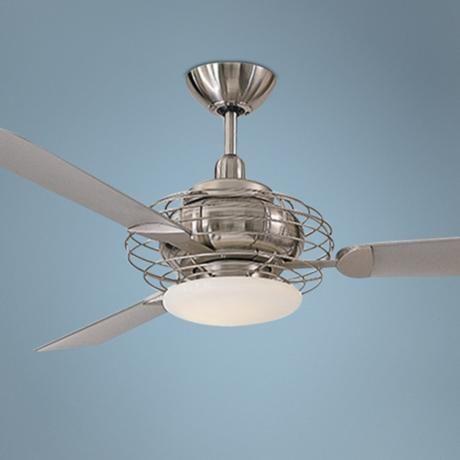 "52""  Minka Aire Acero Steel and Nickel Ceiling Fan - #88506 | LampsPlus.com"