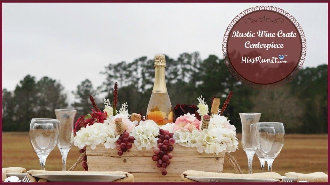 Rustic wine crate wedding centerpiece diy rustic wedding diy