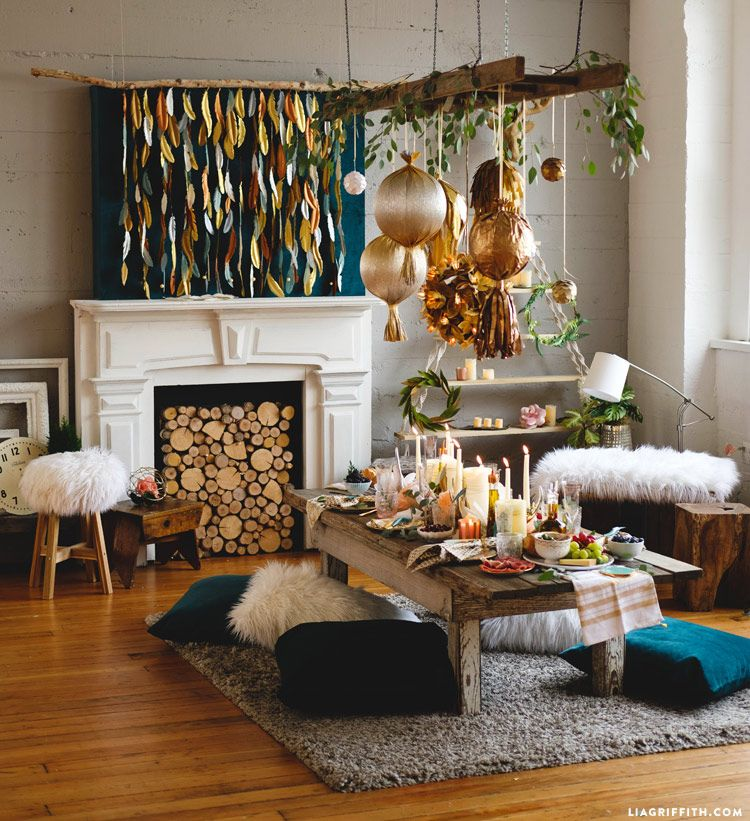 Boho Party Decorations At LiaGriffith