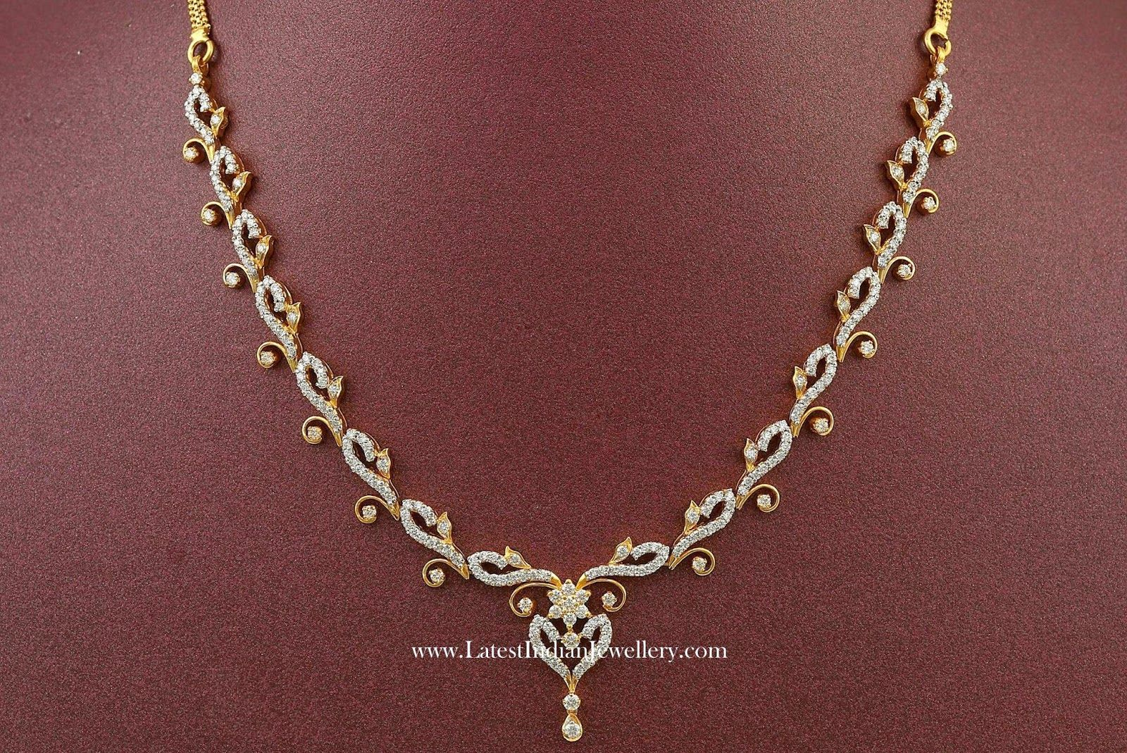 Affordable indian diamond necklace designs india jewelry paisley affordable indian diamond necklace designs latest indian jewellery designs aloadofball Image collections