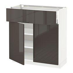 Systeme Metod Element Bas Hauteur Caisson 80 Cm Ikea