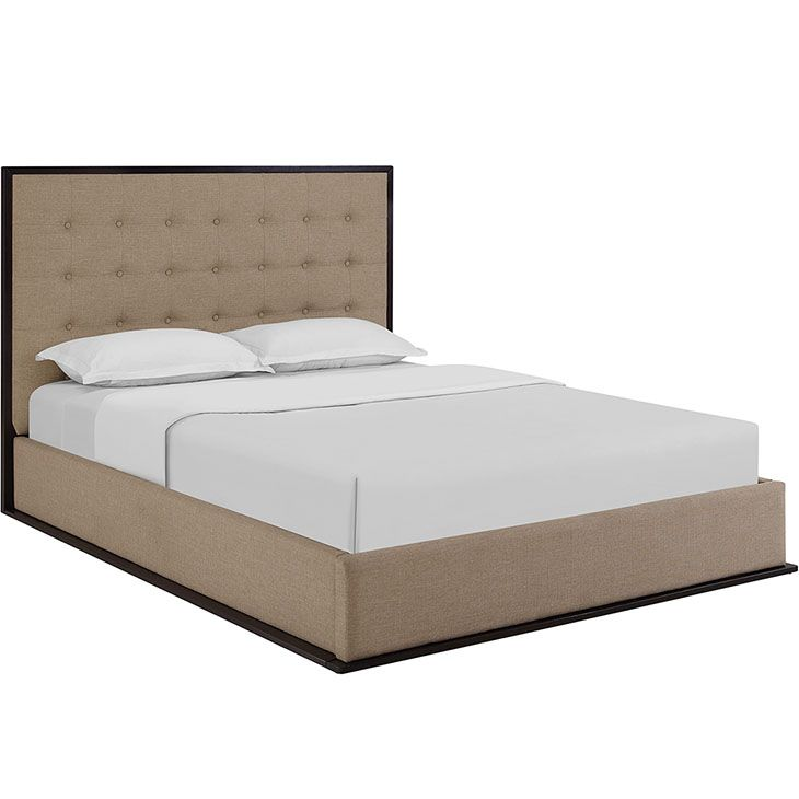 Madeline Queen Upholstered Bed Frame Madeline Queen Upholstered Bed Frame in Cappuccino Café alice lane - $787