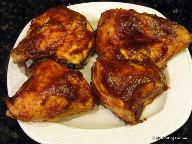Simple Oven Baked Bbq Bone In Skin On Split Chicken Breast