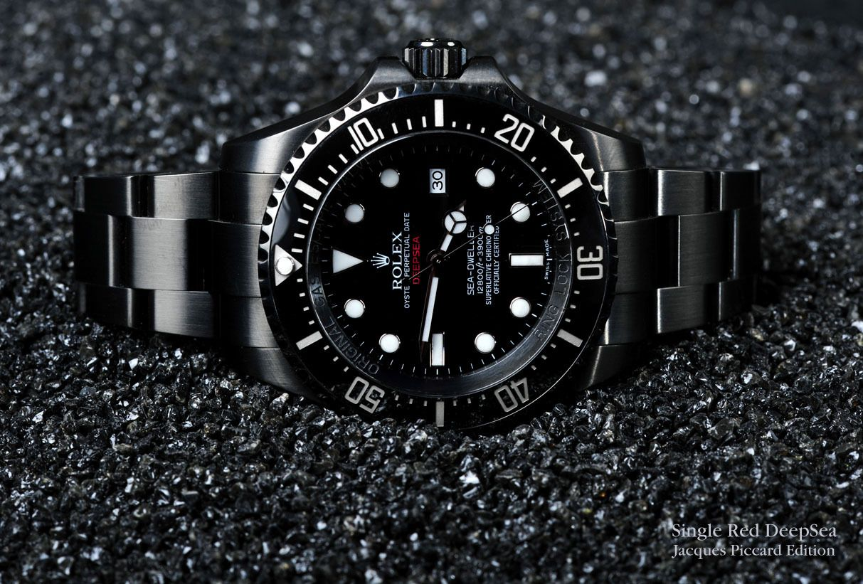Rolex Jacques Piccard Edition Single Red Deepsea Only 86 In The World Watch Design Rolex Rolex Date
