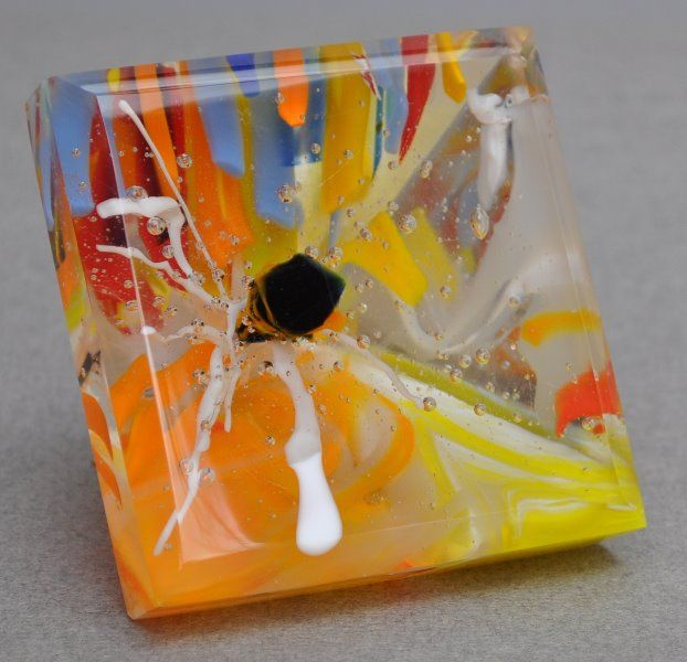 Electricity 2 X3 X3 Pyramid Shape Shown On Side Fused Glass Beveled Shaped And Polished C Linda Humphrey Ki Cold Worked Glass Slumped Glass Fused Glass