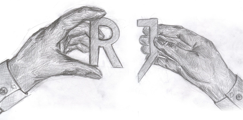 Women's I Love Heart RJ Initials Letters Acronym Funny T-Shirt ...