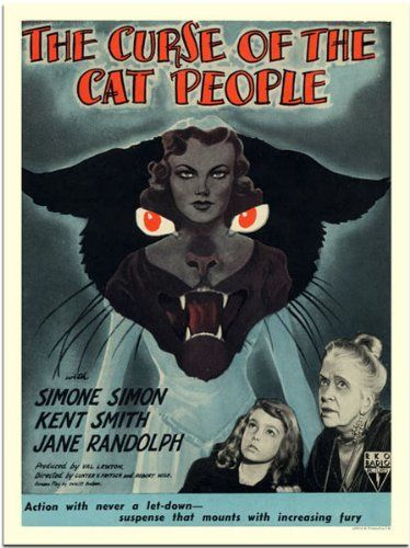Curse Of The Cat People Horror Movie Poster 30x40cm Art Print Horror Movie Art Horror Movie Posters Movie Posters Vintage