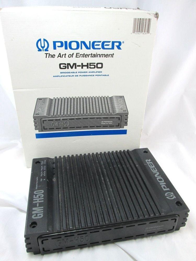 pioneer car amplifier gm-h50 bridgeable #pioneer original box reads: output  50w + 50w max 50w x 2 / 160 w x 1 max  power 25w x 2 / 80w x 1 20