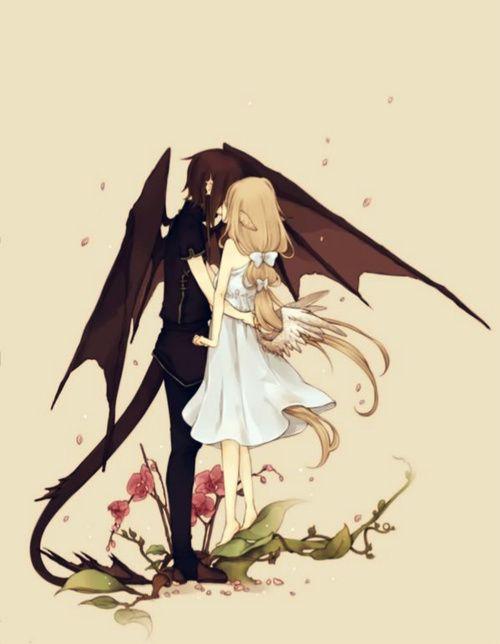 Ангел и демон гетеро версия манга