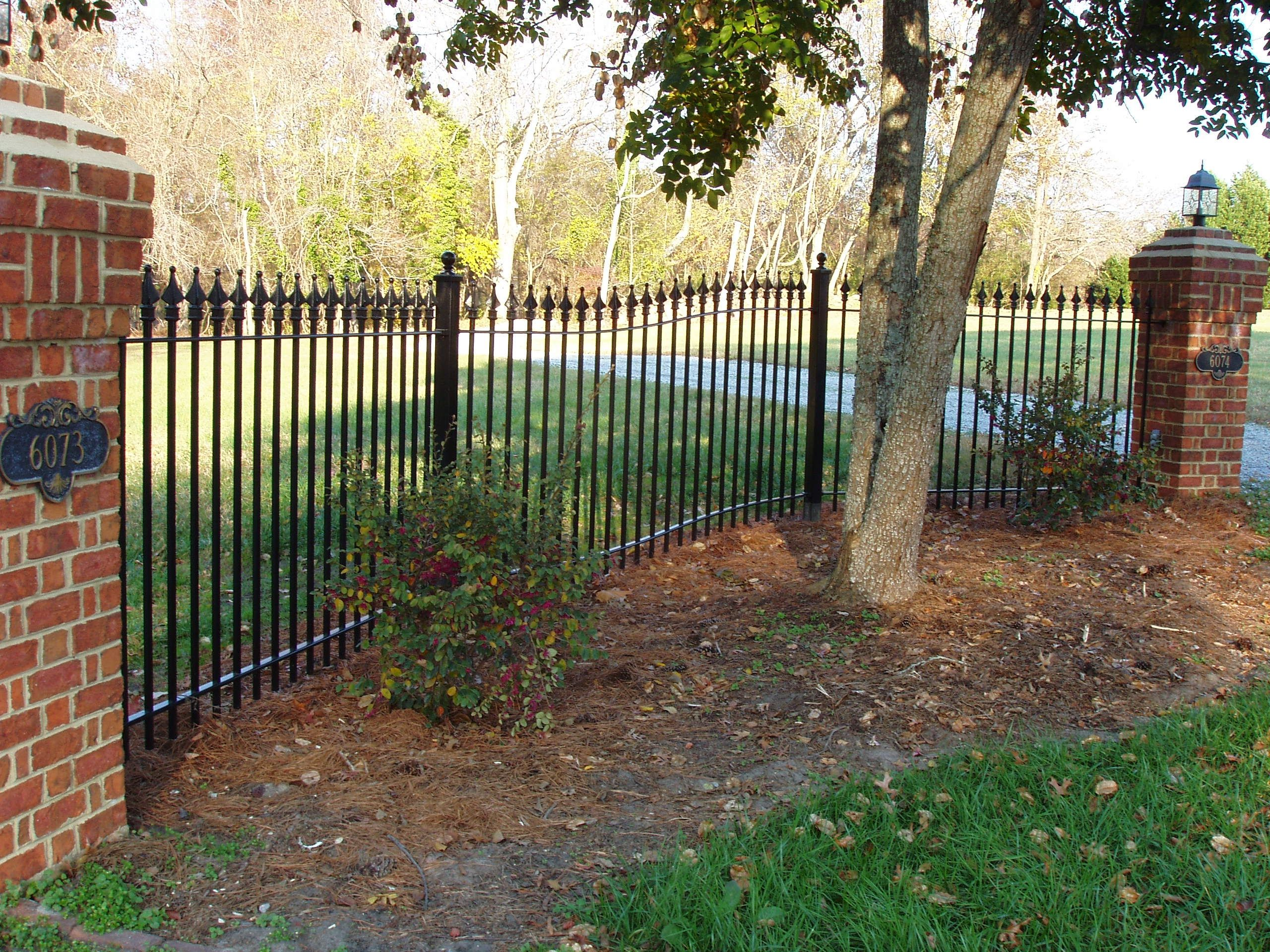 Residential Curved Side Panel Iron Fence Shop Iron Fence