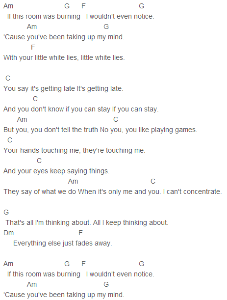 One Direction Little White Lies Chords Music Pinterest