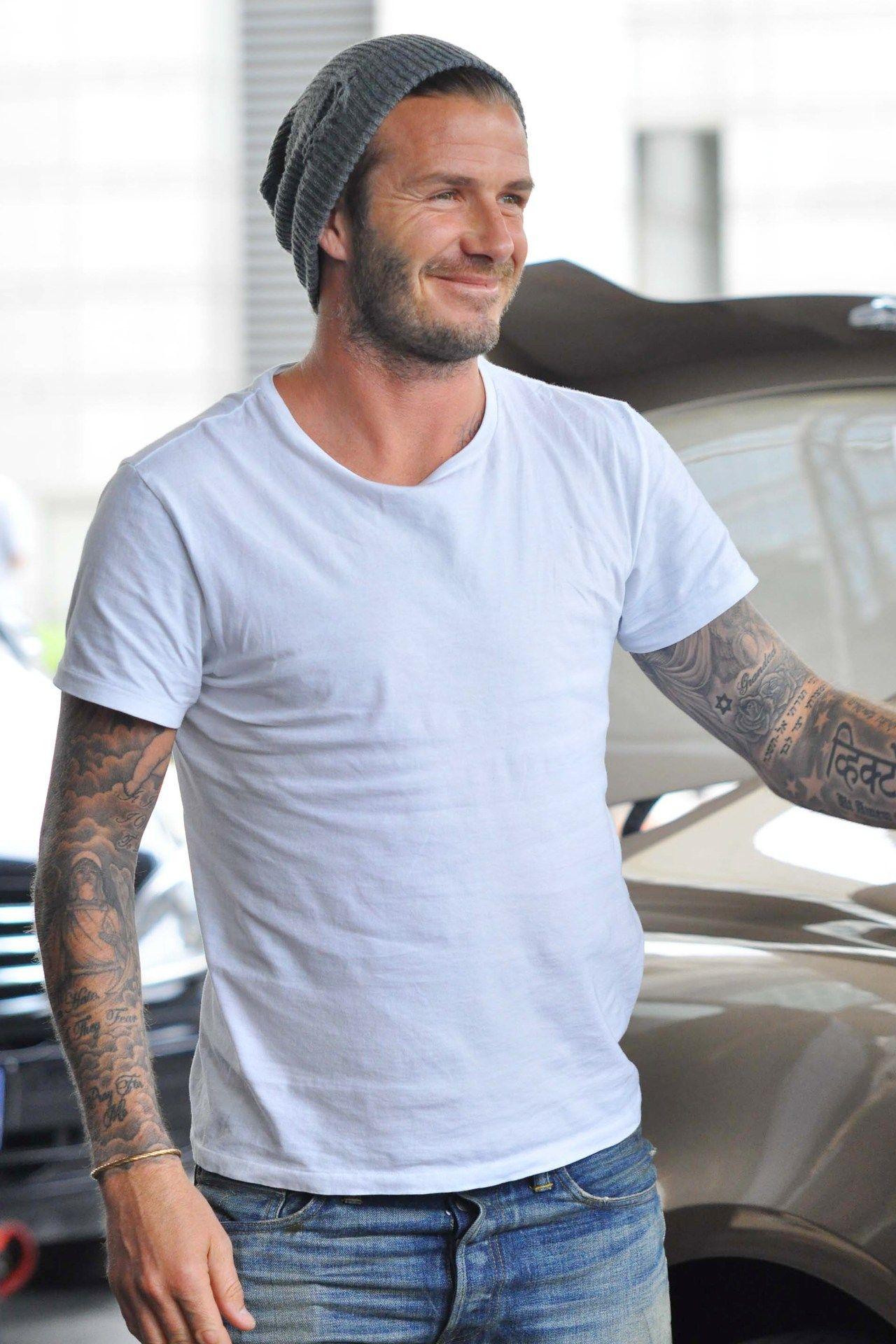6fc9994b193 David Beckham so cute with beanie on
