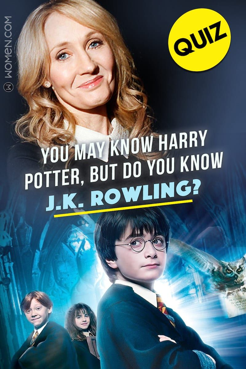 Quiz You May Know Harry Potter But Do You Know J K Rowling Harry Potter Questions Potter Harry