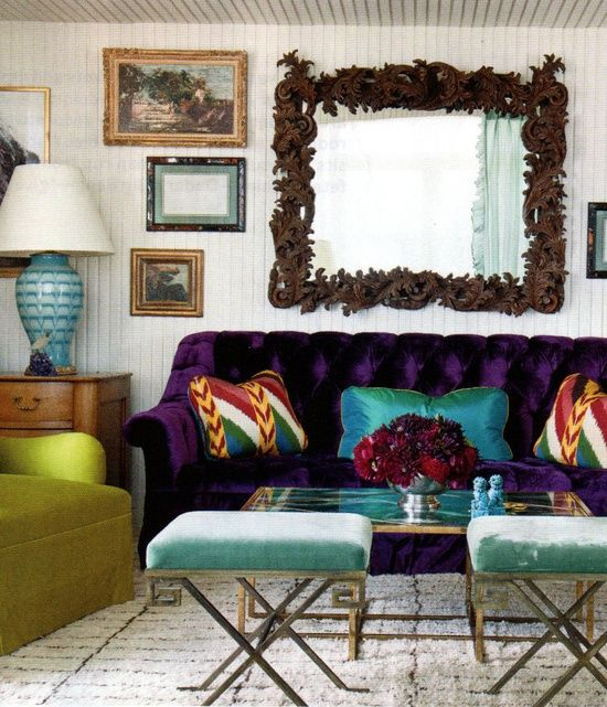 Living Room Design Ideas 50 Inspirational Sofas: Colourful Living Room , Eclectic Living