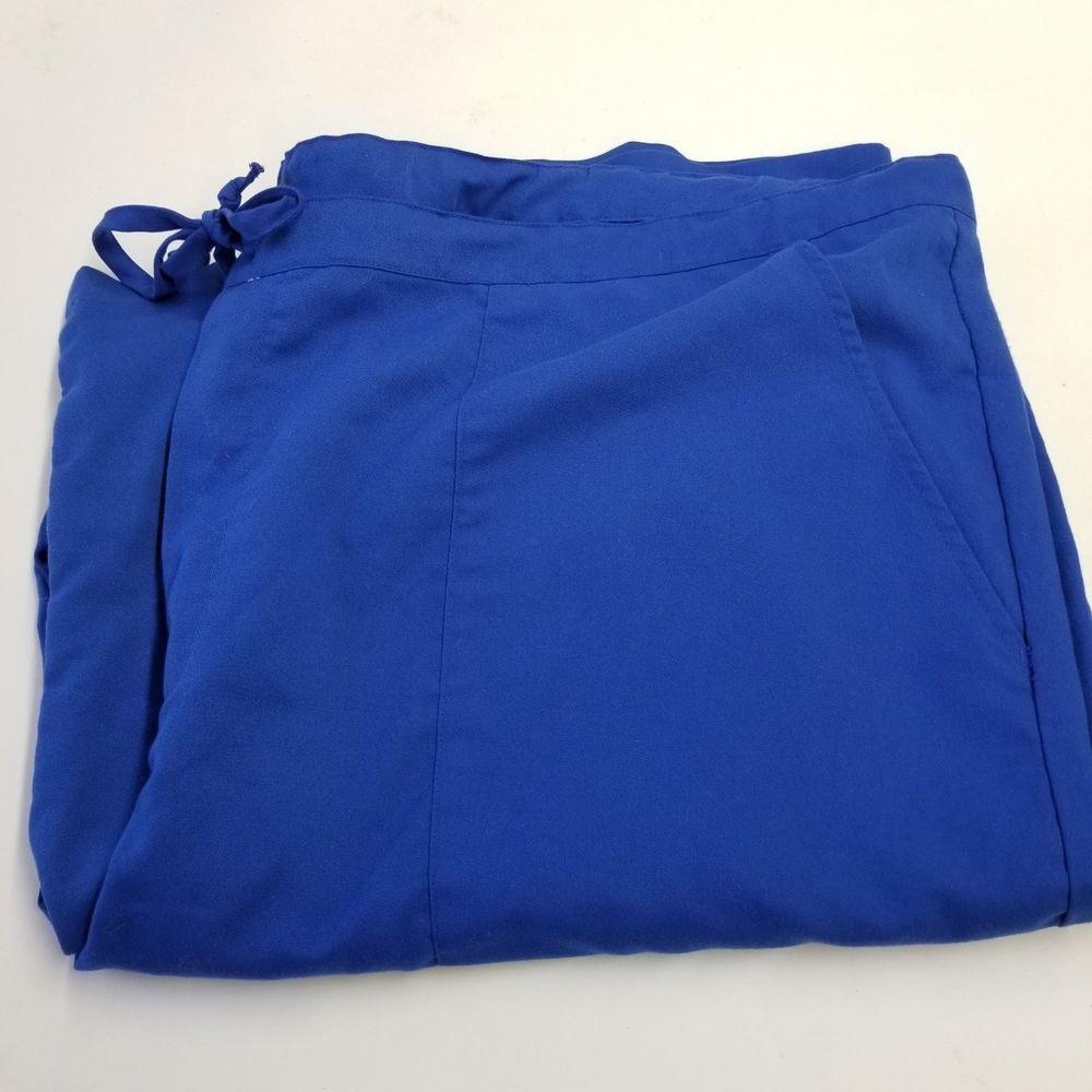 Grey\'s Anatomy Women\'s Scrub Uniform Bottom Pants Blue Plus Size XXL ...