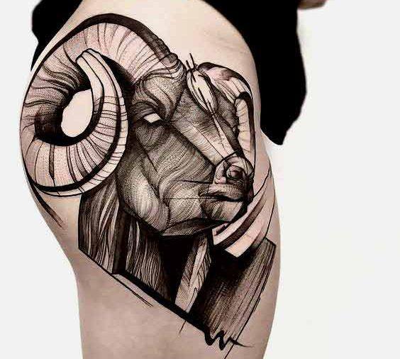 Die 50 Besten Widder Tattoos Designs Und Ideen Mit Bedeutungen