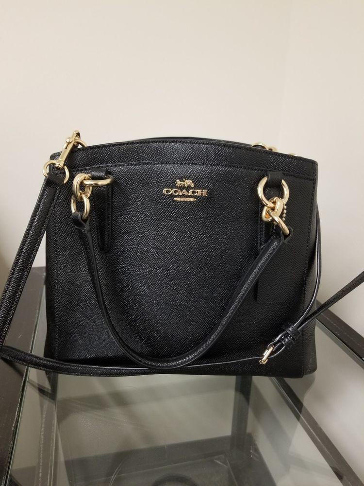 f9efeb5759a6 Black COACH Crossgrain Leather Minetta Crossbody Shoulder Bag PERFECT  CONDITION  fashion  clothing  shoes  accessories  womensbagshandbags ...