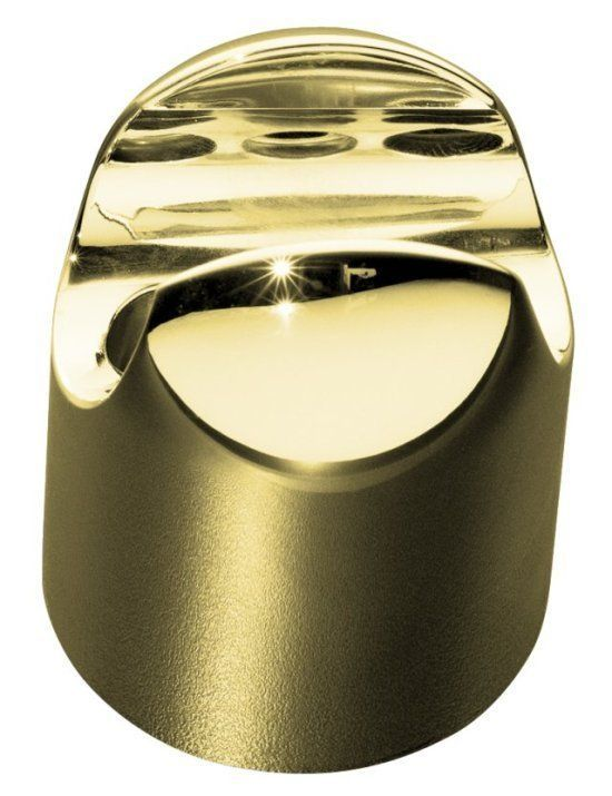 """Kohler K-8515 Fixed Wall Mounted Hand Shower Holder with 1/2"""" Connection from Ma Polished Brass Shower Accessories Hand Shower Holders"""